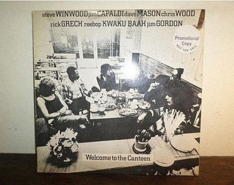 Vintage 1971 Vinyl LP Record Welcome to the Canteen Traffic Etc PROMO Album Near Mint Condition 10506