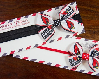 Arizona Cardinals Headband, Arizona Cardinals Pinwheel Bow, Headband, Pinwheel Bow, Baby Headband, Toddler Hair Bow  Ask a question