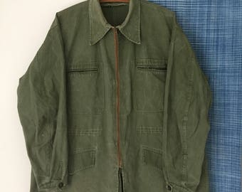 Vintage French Canvas Hunting Jacket