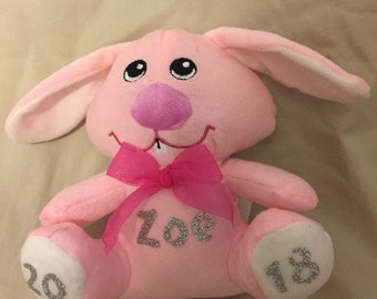 Pink or Blue Personalized Bunny 2018