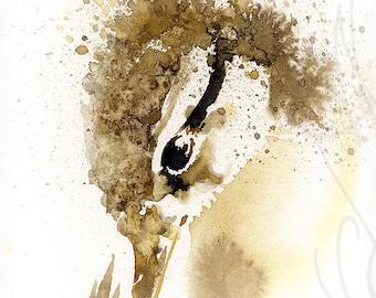 "Martinefa's Original watercolor and Ink ""Duckling"""