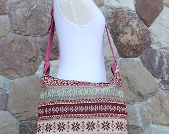 Cute Southwestern Native  Womens  Shoulder Bag   Hobo bag   Hippie bag   Tribal Bag   Festival bag    Hipster Bag   Gift for her
