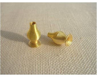2 spacer conical metal beads