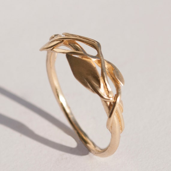 engagement and band leaf listing branch il rings wedding ring twig