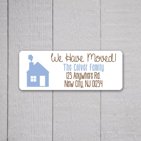 We have moved return address labels return address stickers