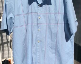 Authentic vintage mens Tommy Hilfiger blue shirt