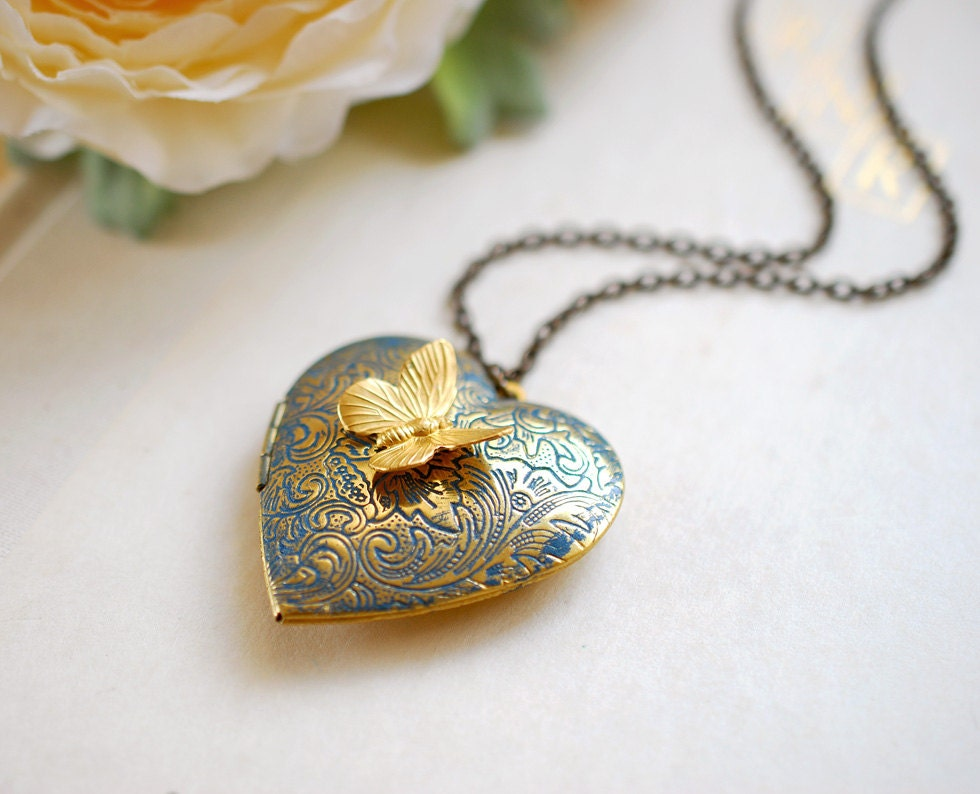 you p patina love locket x vintage i lockets htm brass heart