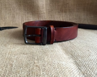 Mens Full Grain Leather Belt, Hand Made in Australia