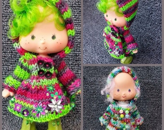 PDF knitting Pattern for Hooded Strawberry Shortcake coat