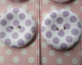 """Riley Blake Sew Together 1.5 """" Matte Round Dot Buttons - Lavender"""