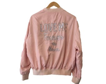Love ME Forever or Never Bomber Jacket
