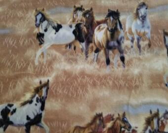 Horses Fleece Fabric (31 inches)