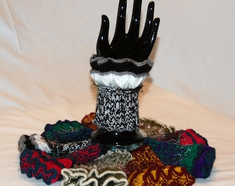 Cuffs - hand knitted, wrist warmers, handmade, bespoke, all colours, made to order