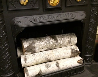Decorative White Birch Fireplace Logs (Quantity of 6)