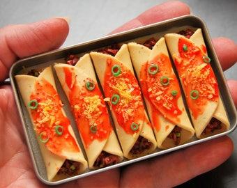 5 Enchiladas In A Pan - Food For American Girl Dolls