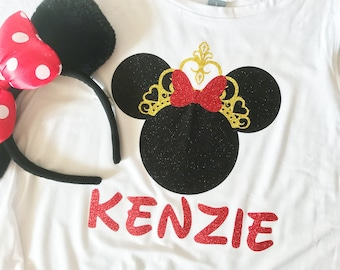 Personalized MINNIE MOUSE Tanktop for Your Princess