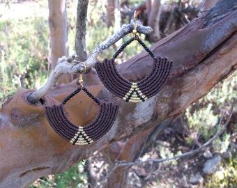 Dangle drop macrame earrings - women earrings, Christmas gift, macrame earrings!