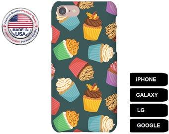 Cupcake Phone Case, Phone Case Cupcake, Cupcake iPhone Case, Cupcake Galaxy Case, Cupcake Google Pixel, iPhone 5s Case, Galaxy S8 Case, LG