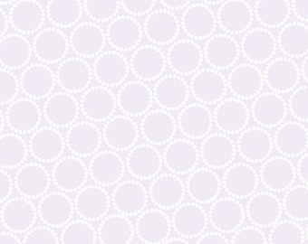 Lizzy House Fabric, Mini Pearl Bracelets, A-7829-C Heather, Andover, 100% Cotton, #238