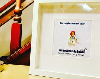 Nurse Gift - Personalised Lego® Frame!