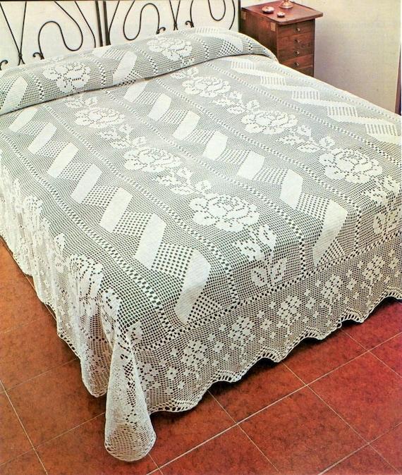 Pdf Crochet Bedspread Pattern Bedcover Crochet Blanket