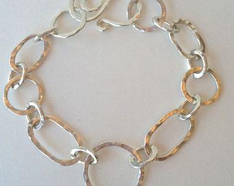Artisan Sterling Silver Charm/link bracelet
