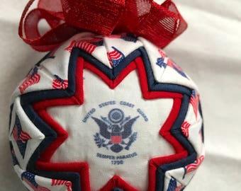 Coast Guard Fabric Ornament