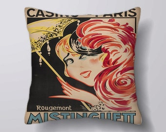 Casino de Paris Mistinguett  - Cushion Cover Case Or Stuffed With Insert