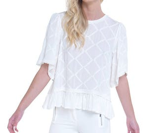 White Romantic Top