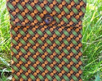 Kindle Sleeve: Green and Orange