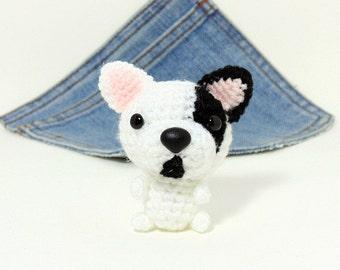Amigurumi French Bulldog, crochet French Bulldog, stuffed Dog. Stocking stuffer.Crochet dog