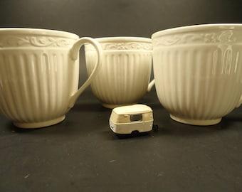 3 Mlkasa cups stone ware,Italian country side DD900 patern