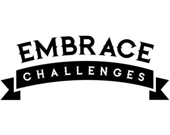 Embrace Challenges Quote Wall Decal