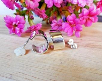 Delightful Women Fashion Handcraft 925 Silver Open Swirl Hoop Earrings,Half Hoop Earring,Geometric Earring,Personalized Gifts,Gifts For Her