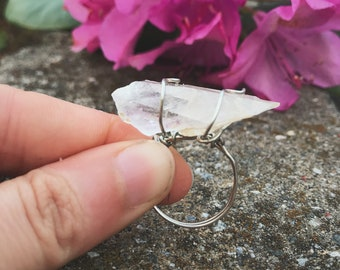 Clear Quartz Wire Wrapped Ring