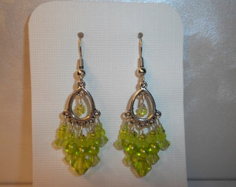 Pre-Summer Sale! Swarovski Lime Chandelier Earrings