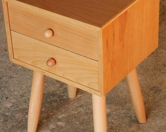 Scandinavian Nightstand/ Mid Century Modern/ Custom made