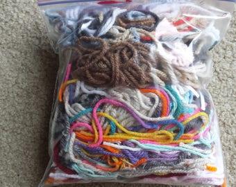 Yarn Scraps, scrapbooks, craft supplies, kid projects, school projects