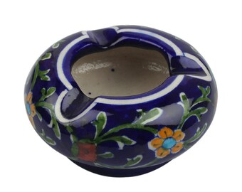 Blue Pottery Ash Tray,Indian Handicraft, Home Decor, Gift,Ash Tray,Blue Pottery