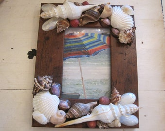Beach Decor Seashell Frame - Shell Frame - Seashells - Wall Decor - Beach Decor - Coastal Home Decor