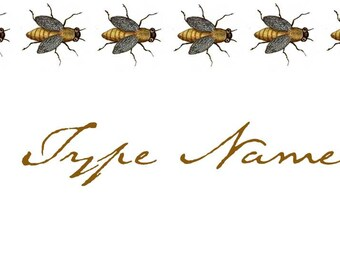 Bees Place Card Template