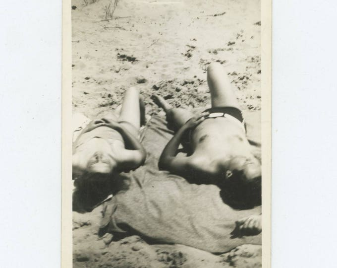 Vintage Snapshot Photo: Sunbathers [82651]
