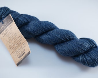 Aslan Trends - King Baby Llama & Mulberry Silk - Color Navy - 4 Skeins Available - Worsted Weight Yarn (Stock #203)