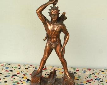 Vintage Colossos Rodos Statue
