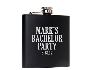 Bachelor Party Gifts Favors Supplies Custom Black Flasks Bachelor Party Flask Groomsmen