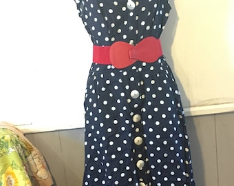 Adorable Vintage Polka Dot Dress