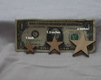 Set of 50 laser cut stars (FREE SHIPPING)
