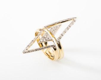 Two Rings in one Finger (Diamond)