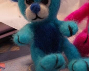 Teddy bear miniature, blue bear