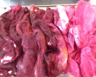 Hope Jacare - Just gorgeous approx 25g hand dyed silk hankies SH70